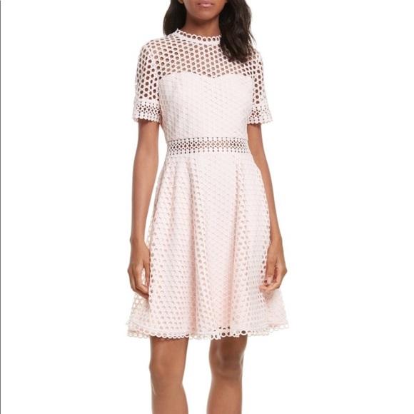 9122b36506c9 Ted Baker pink lace Graycee dress
